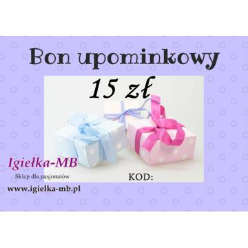 Bon upominkowy 15 zł