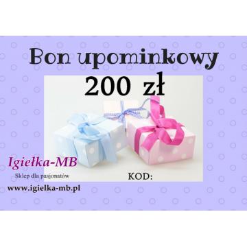 Bon upominkowy 200zł