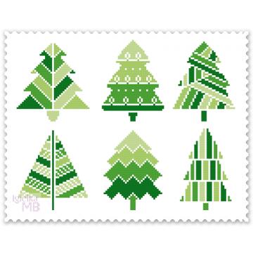 2426. - Świąteczne drzewka...