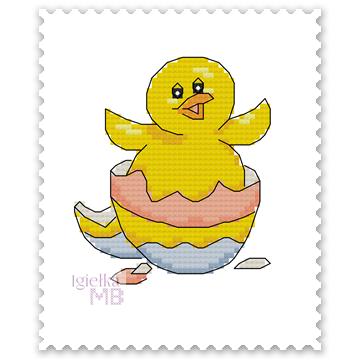2454. - Wielkanocny kurczak...