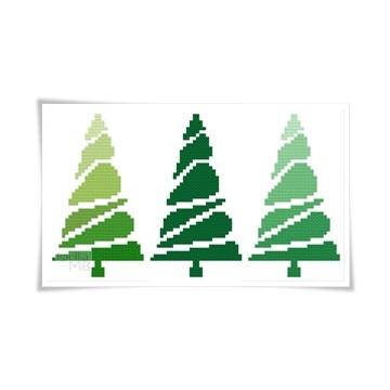 2971. - Świąteczne drzewka...